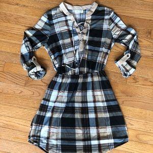 Ultra Flirt junior L plaid dress